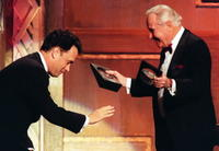 Jack Lemmon and Tom Hanks at the 2nd Annual Blockbuster Awards.