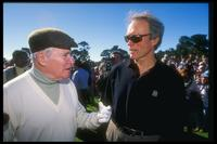 Jack Lemmon and Clint Eastwood at the AT&T National Pro-Am at the Peter Hay Course.