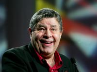 Jerry Lewis at the opening session of the Video Software Dealers Association's annual home video convention.