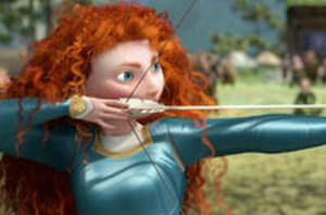 Snapshot: Jessica Chastain Takes Aim Channeling Disney Pixar's 'Brave'