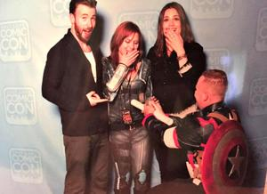 Chris Evans and Hayley Atwell Star in One Fan's Awesome Marriage Proposal