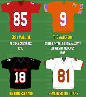 Infographic: Movie Football Jerseys - Which One's Your Favorite?