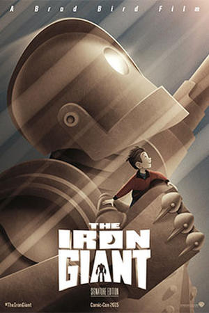 """Poster art for """"The Iron Giant."""""""