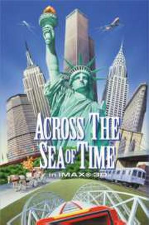 "Poster art for ""Across the Sea of Time."""