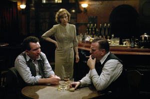 "Eddie Marsan, Juliet Stevenson and Timothy Spall in ""Pierrepoint."""