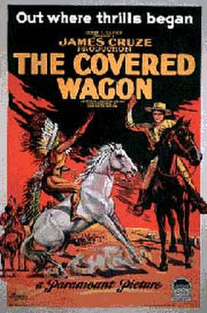 "Poster art for ""The Covered Wagon."""