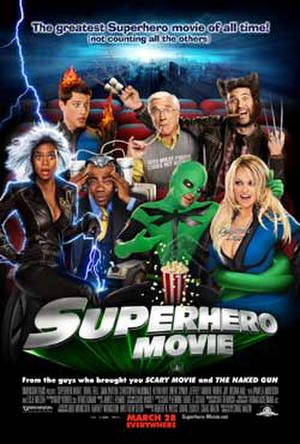 "Poster art for ""Superhero Movie."""