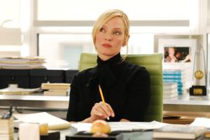 "Uma Thurman as Dr. Emma Lloyd in ""The Accidental Husband."""