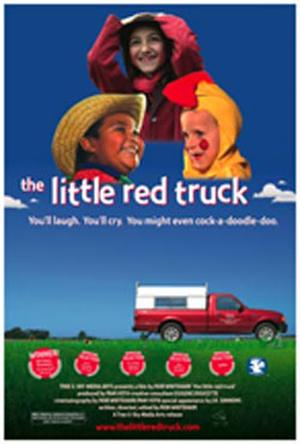 "Poster art for ""The Little Red Truck."""