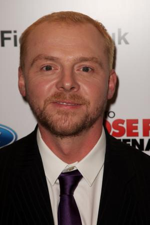 """Simon Pegg at the UK premiere of """"How to Lose Friends and Alienate People."""""""