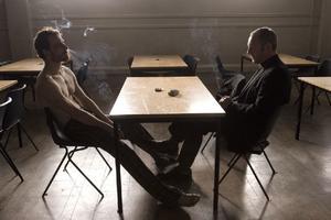"Michael Fassbender as Bobby Sands in ""Hunger."""