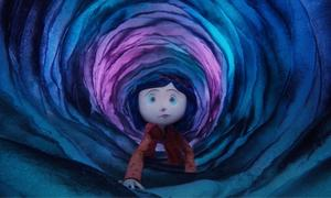 "Coraline (voiced by Dakota Fanning) in ""Coraline."""