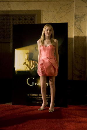 "Dakota Fanning at the premiere of ""Coraline."""