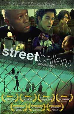 "Poster art for ""Streetballers."""