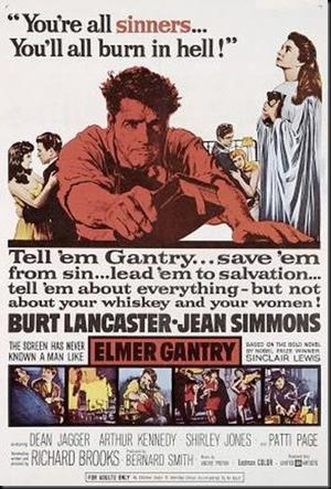 """Poster art for """"Elmer Gantry."""""""