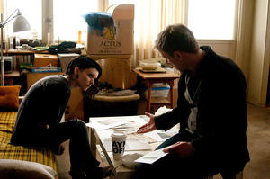 "Rooney Mara as Lisbeth Salander and Daniel Craig as Mikael Blomkvist in ""The Girl With the Dragon Tattoo."""