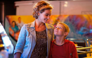 """Cecile de France as Samantha and Thomas Doret as Cyril in """"The Kid with a Bike."""""""