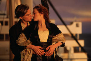"Leonardo DiCaprio and Kate Winslet in ""Titanic 3D."""