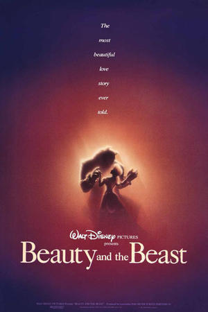 "Poster art for ""Beauty and the Beast."""