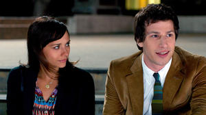"Rashida Jones as Celeste and Andy Samberg as Jesse in ""Celeste and Jesse Forever."""