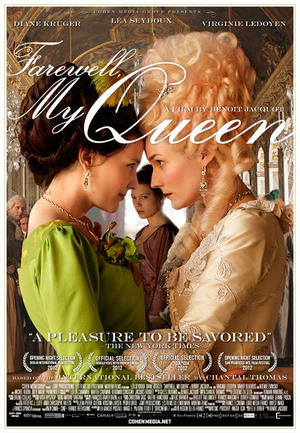 "Poster art for ""Farewell, My Queen."""