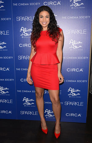 "Jordin Sparks at the New York premiere of ""Sparkle."""