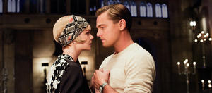 "Carey Mulligan as Daisy Buchanan and Leonardo DiCaprio as Jay Gatsby in ""The Great Gatsby."""