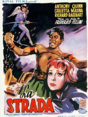 "Poster art for ""La Strada."""