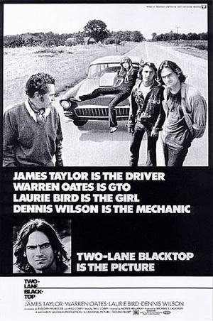 "Poster art for ""Two-Lane Blacktop."""