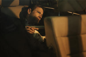 "Aaron Eckhart in ""Erased."""