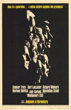 "Poster art for ""Judgment at Nuremberg."""