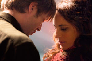 """Mads Mikkelsen and Alexandra Rapaport in """"The Hunt."""""""