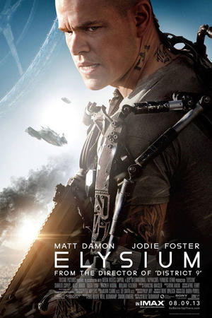 "Poster art for ""Elysium: The IMAX Experience."""