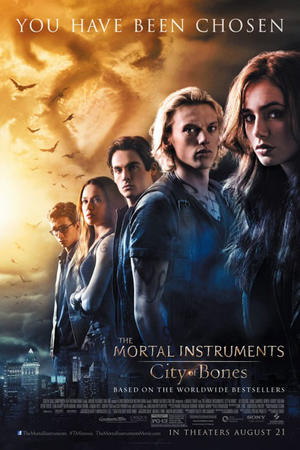 "Poster art for, ""The Mortal Instruments: City of Bones - The IMAX Experience."""
