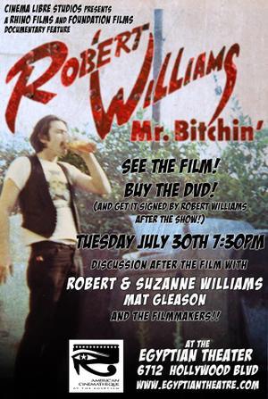 "Poster art for ""Robert Williams,Mr. Bitchin'."""