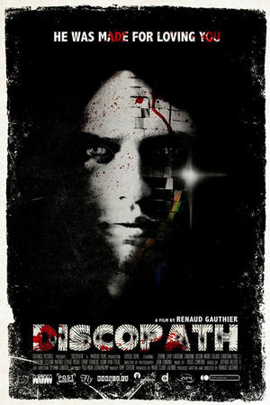 "Poster art for ""Discopath."""