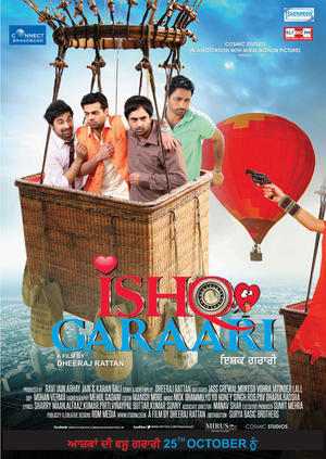 "Poster art for ""Ishq Garaari."""