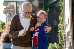 "Johnny Knoxville as Irving Zisman and Jackson Nicoll as Billy in ""Jackass Presents: Bad Grandpa."""