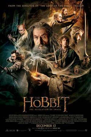 """Poster art for """"The Hobbit: The Desolation of Smaug Double Feature IMAX 3D."""""""