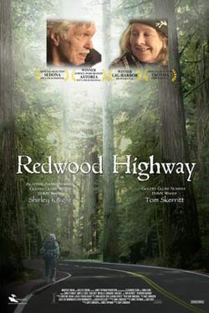 "Poster art for ""Redwood Highway."""