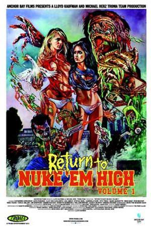 """Poster art for """"Return to Nuke 'Em High: Volume 1."""""""
