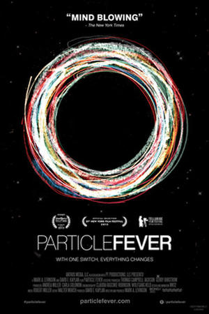 "Poster art for ""Particle Fever."""