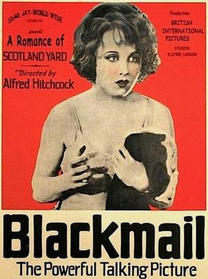 """Poster art for """"Blackmail."""""""