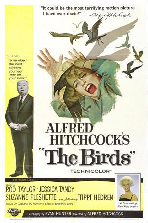 "Poster art for ""The Birds."""
