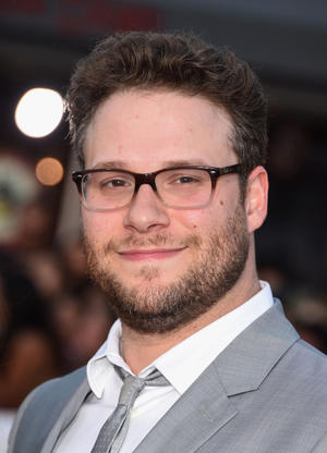 """Seth Rogen at the California premiere of """"Neighbors."""""""