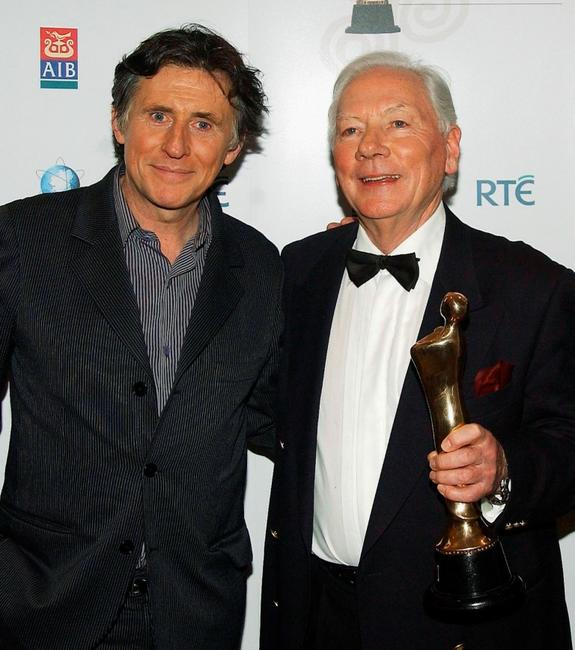 Gabriel Byrne and Gay Byrne at the Irish Film & Televison Awards.