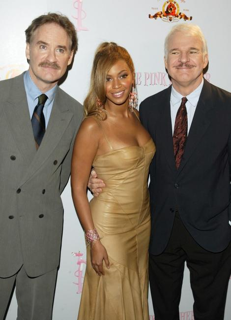 Steve Martin, Kevin Kline and Beyonce Knowles at the press conference for