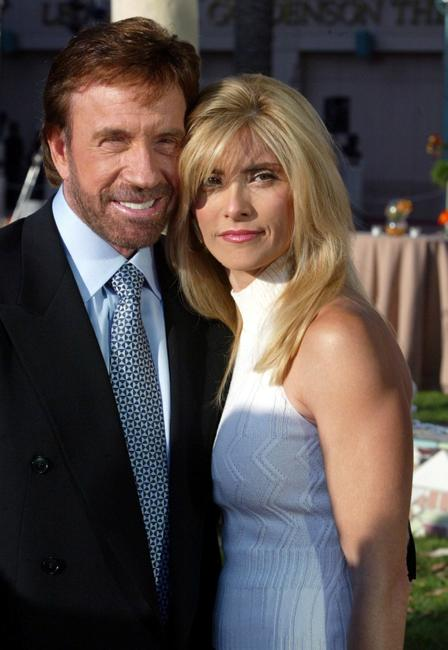 Chuck Norris and Gena O'Kelley at the Academy of Television Arts and Sciences Hall of Fame Induction Ceremony.