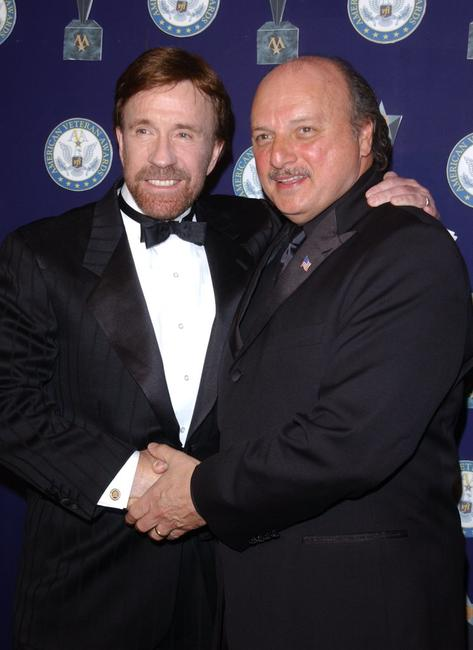 Chuck Norris and Dennis Franz at the 7th Annual American Veteran Awards.