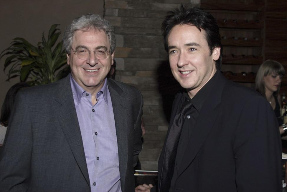 Harold Ramis and John Cusack at the Chicago premiere of